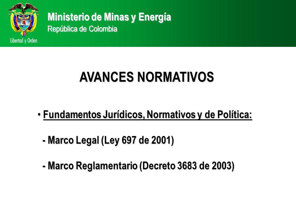 AVANCES NORMATIVOS Ministerio de Minas y Energía