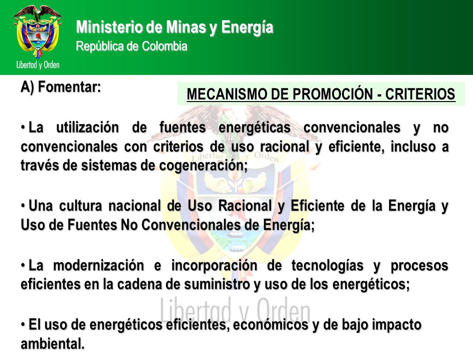 MECANISMO DE PROMOCIÓN - CRITERIOS
