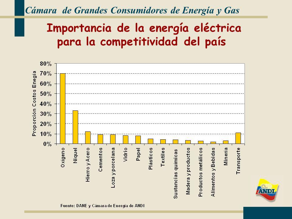 Importancia de la energía eléctrica para la competitividad del país
