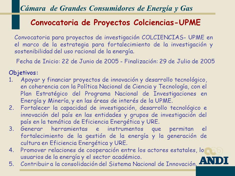 Convocatoria de Proyectos Colciencias-UPME