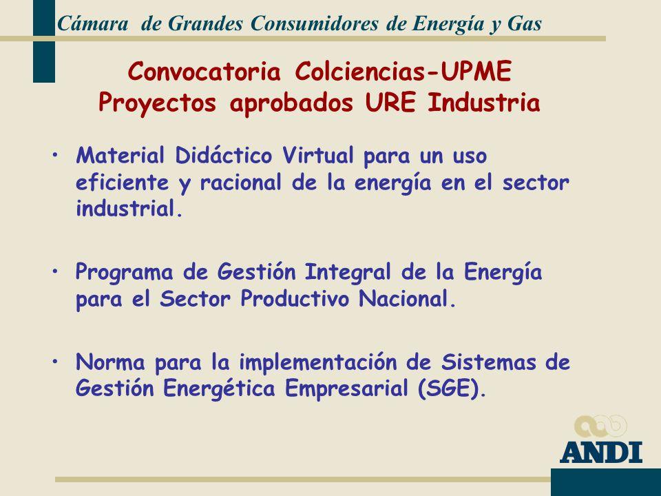 Convocatoria Colciencias-UPME Proyectos aprobados URE Industria