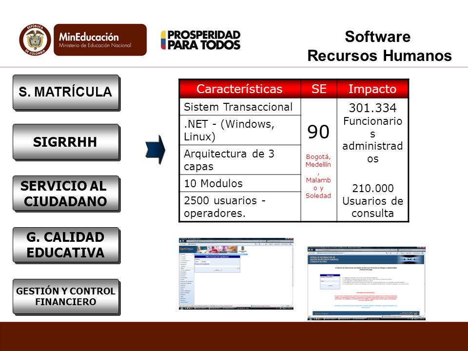 90 Software Recursos Humanos S. MATRÍCULA SIGRRHH SERVICIO AL