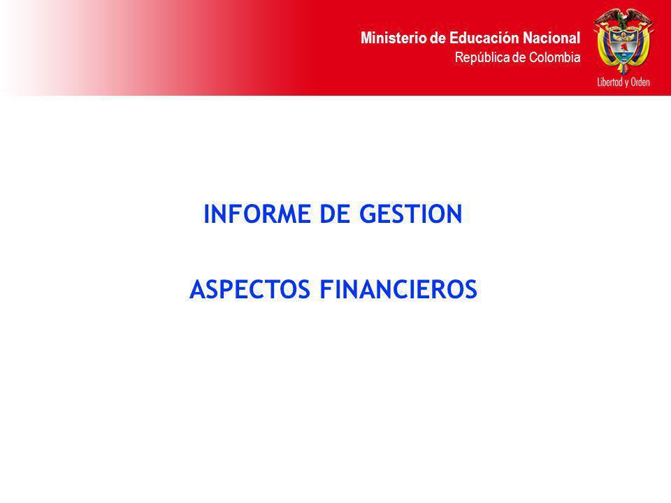 INFORME DE GESTION ASPECTOS FINANCIEROS