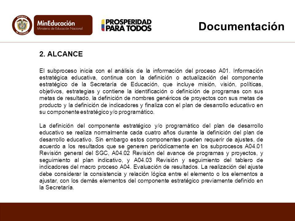 Documentación 2. ALCANCE