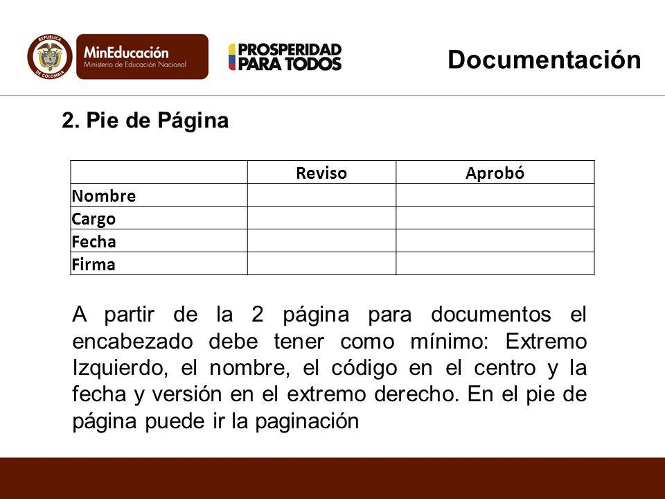 Documentación 2. Pie de Página