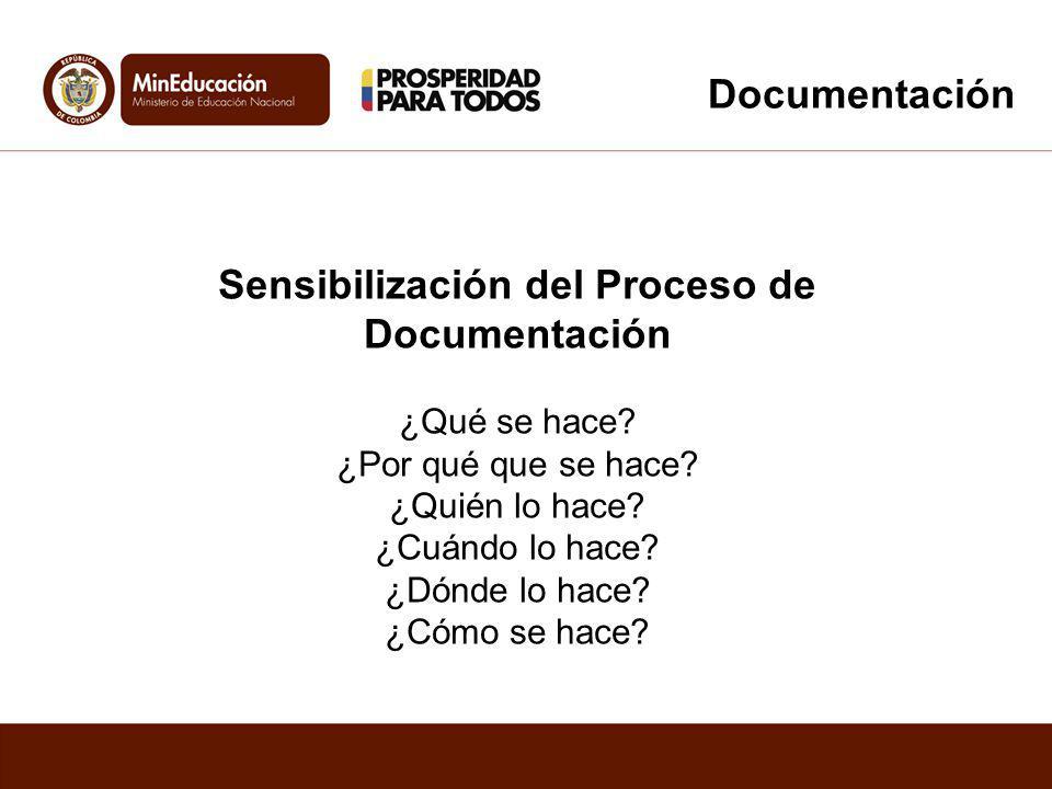 Sensibilización del Proceso de Documentación
