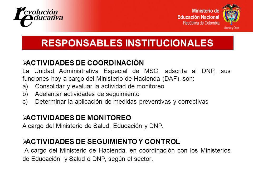 RESPONSABLES INSTITUCIONALES