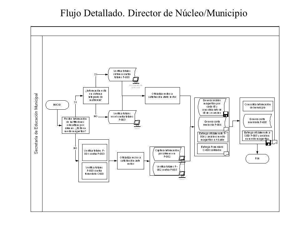 Flujo Detallado. Director de Núcleo/Municipio
