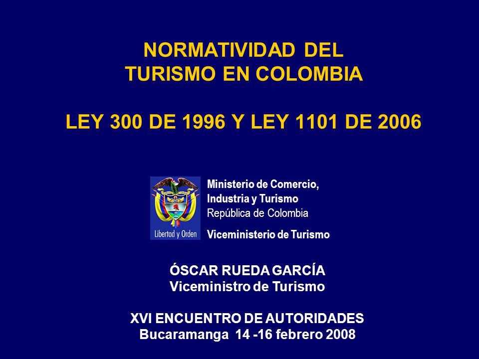 LEY 300 DE 1996 LEY GENERAL DE TURISMO
