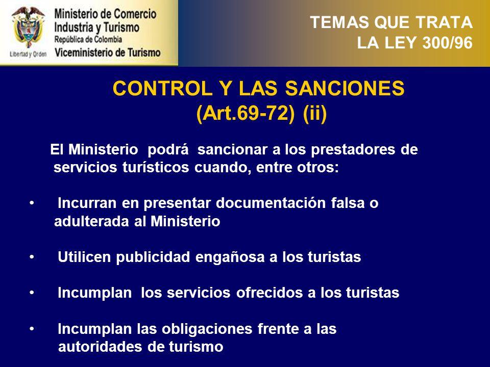 POLICÍA DE TURISMO (Art. 73-75)