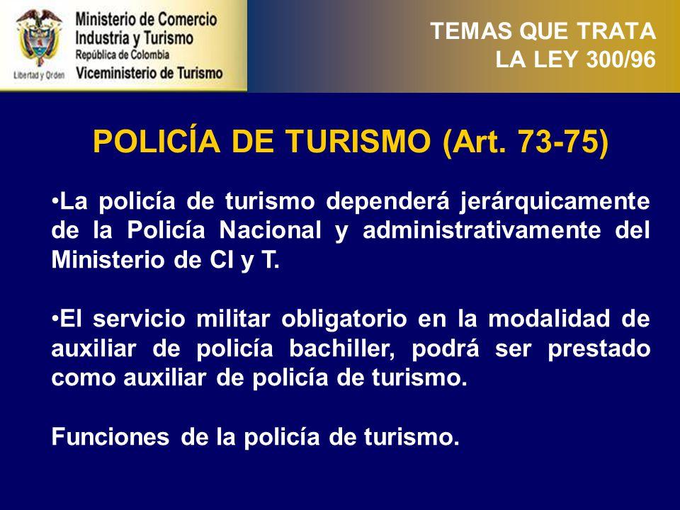 PRESTADORES DE SERVICIOS TURÍSTICOS (Art. 76-100) (i)