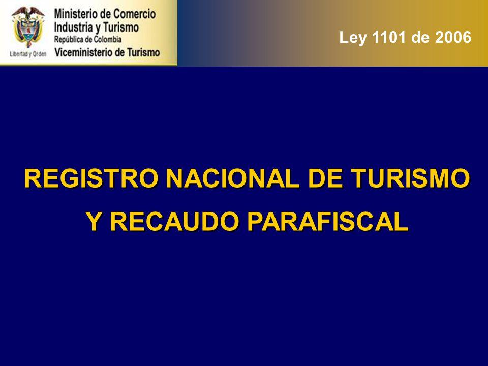 PARAFISCALIDAD Ley 300 de 1996: