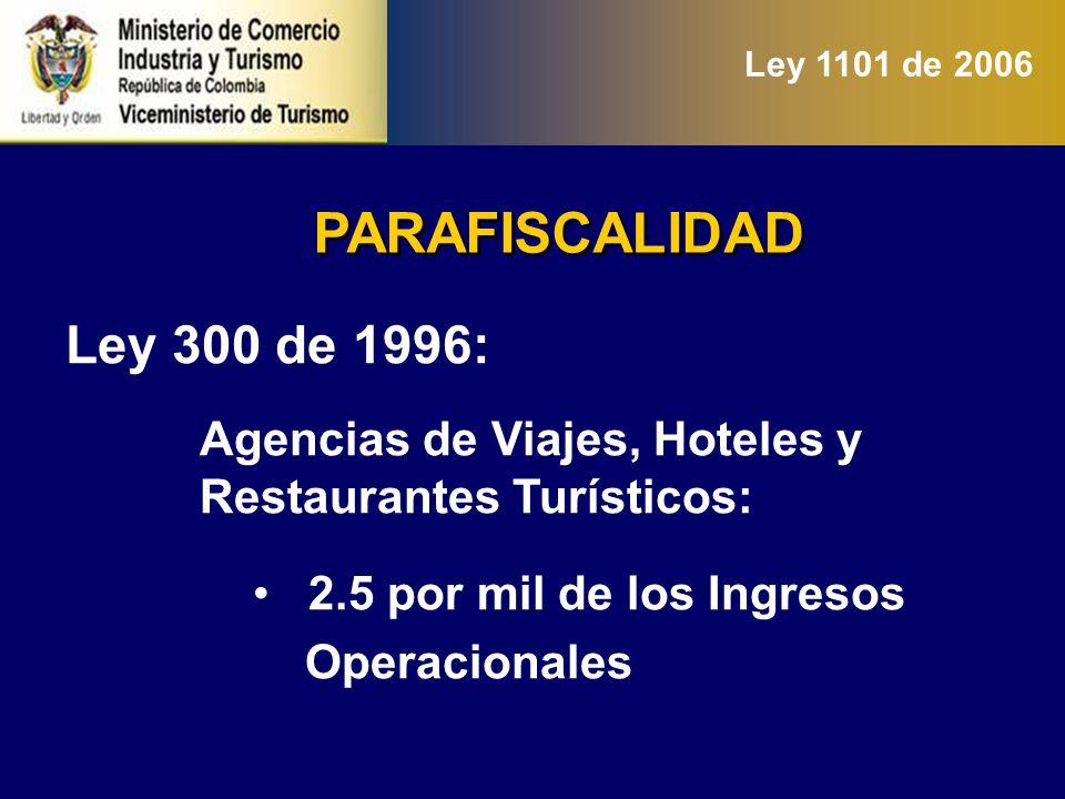 …PARAFISCALIDAD Nueva Ley: 2.5 por mil sobre ingresos operacionales