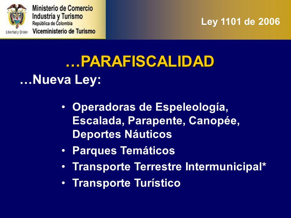 …PARAFISCALIDAD …Nueva Ley: