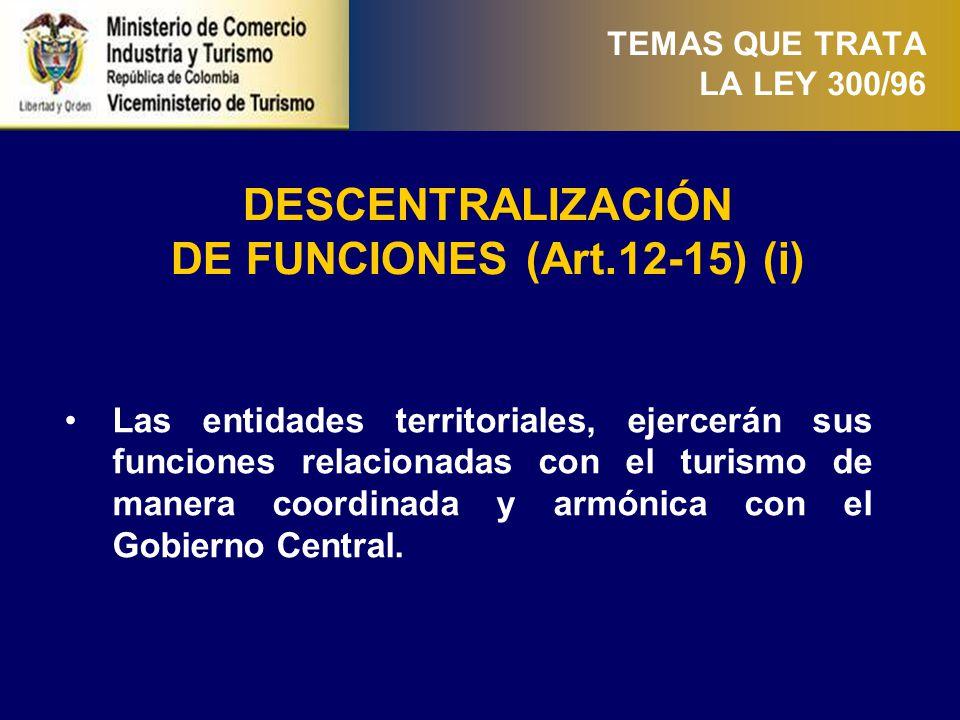 DE FUNCIONES (Art.12-15) (ii)