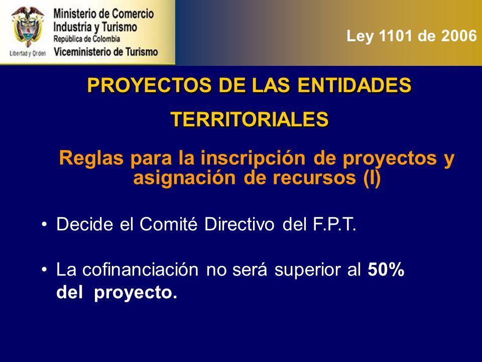 PROYECTOS DE LAS ENTIDADES TERRITORIALES