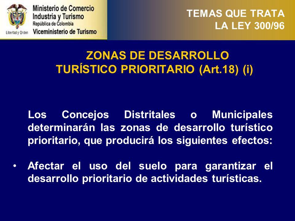 TURÍSTICO PRIORITARIO (Art.18) (ii)