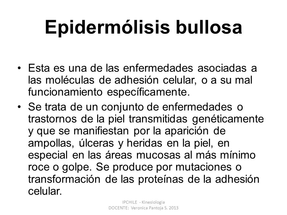 Epidermólisis bullosa