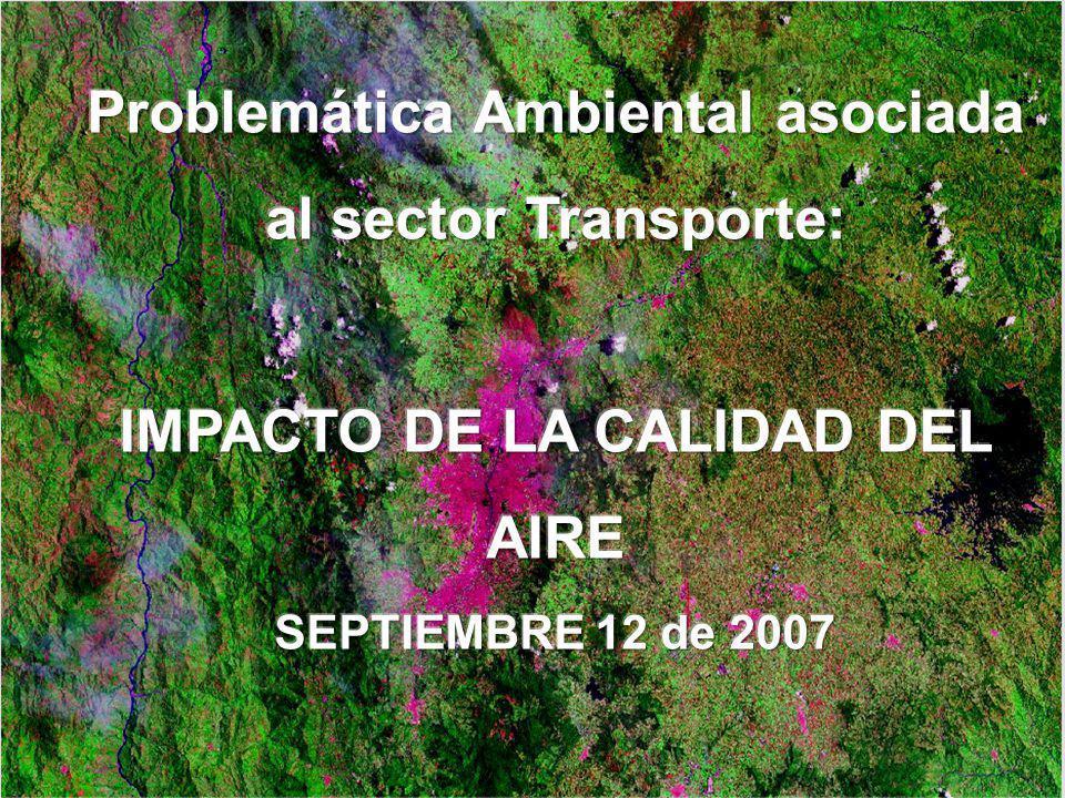 Problemática Ambiental asociada al sector Transporte: