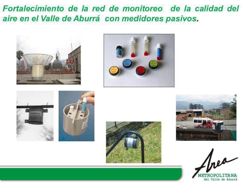 Fortalecimiento de la red de monitoreo de la calidad del aire en el Valle de Aburrá con medidores pasivos.
