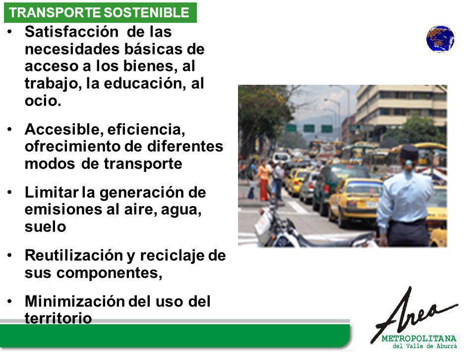 Accesible, eficiencia, ofrecimiento de diferentes modos de transporte