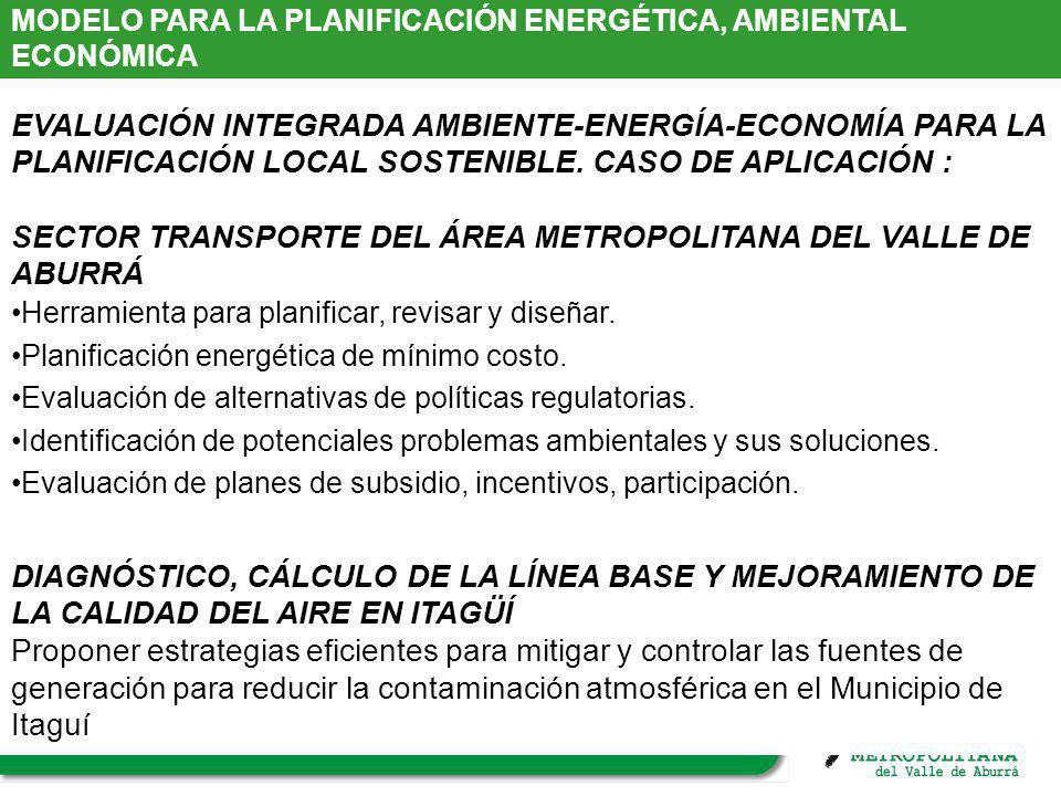 SECTOR TRANSPORTE DEL ÁREA METROPOLITANA DEL VALLE DE ABURRÁ