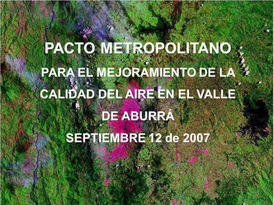 PACTO METROPOLITANO PARA EL MEJORAMIENTO DE LA CALIDAD DEL AIRE EN EL VALLE DE ABURRÁ