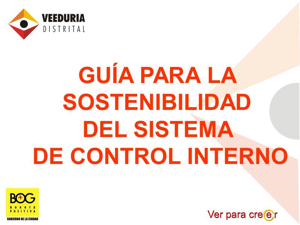 GUÍA PARA LA SOSTENIBILIDAD DEL SISTEMA DE CONTROL INTERNO