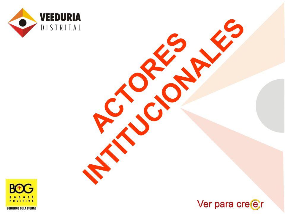 INTITUCIONALES ACTORES