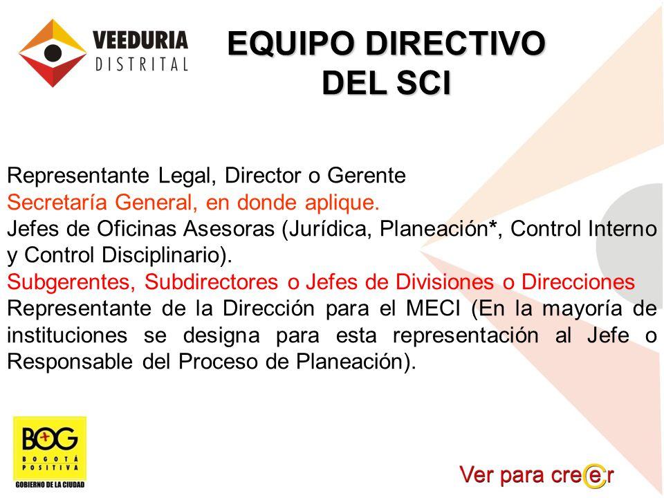 EQUIPO DIRECTIVO DEL SCI