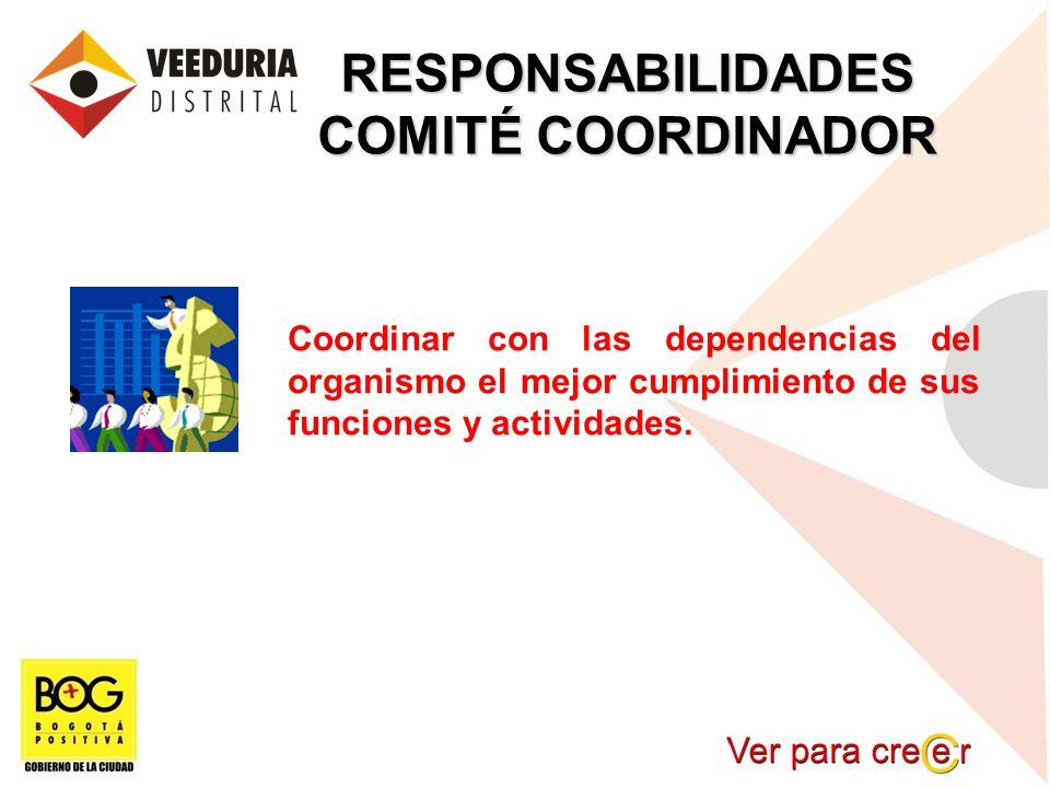 RESPONSABILIDADES COMITÉ COORDINADOR