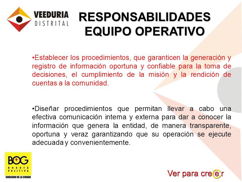 RESPONSABILIDADES EQUIPO OPERATIVO