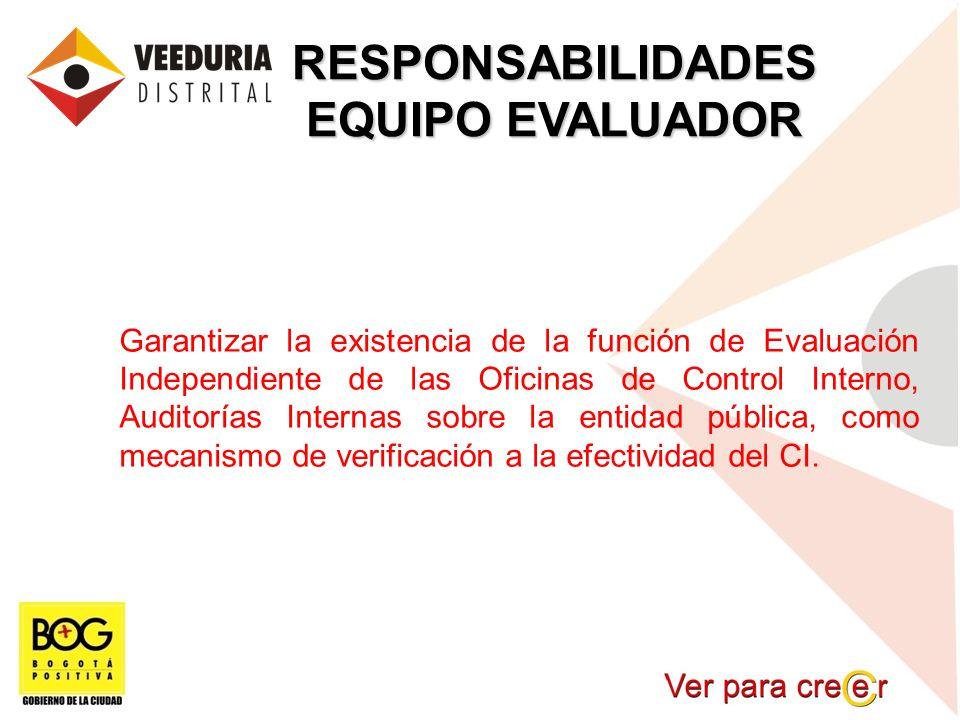 RESPONSABILIDADES EQUIPO EVALUADOR
