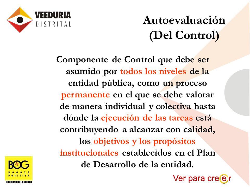 Autoevaluación (Del Control)
