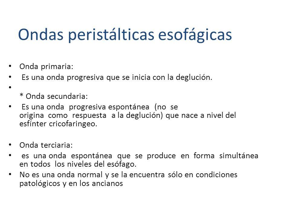 Ondas peristálticas esofágicas