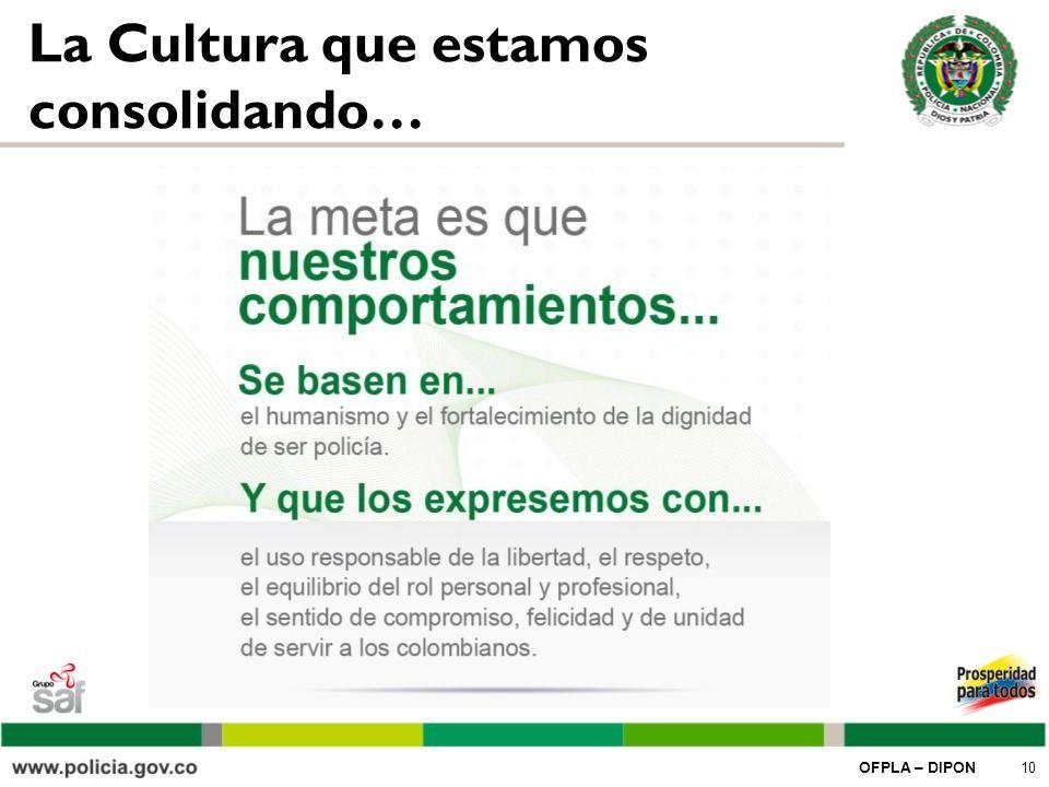 La Cultura que estamos consolidando…