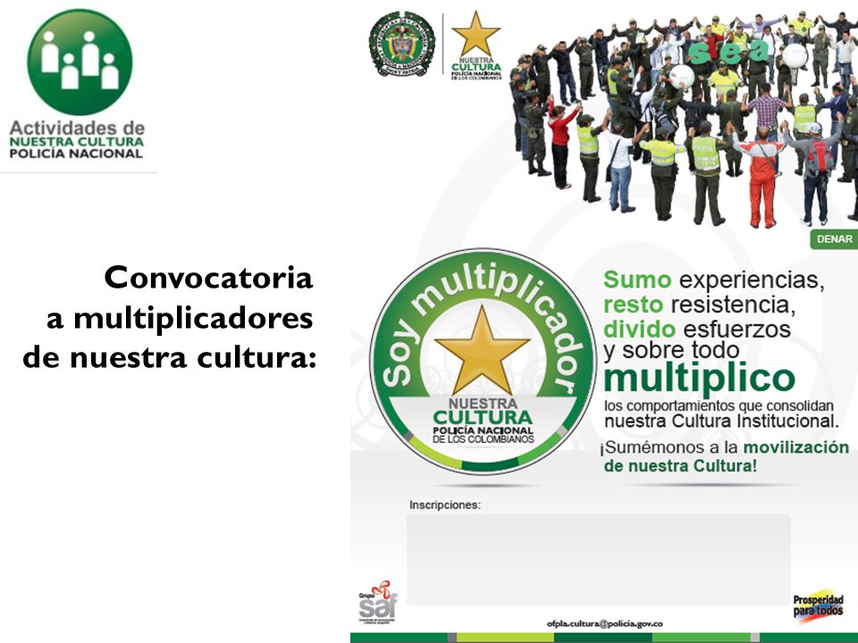 Convocatoria a multiplicadores de nuestra cultura: