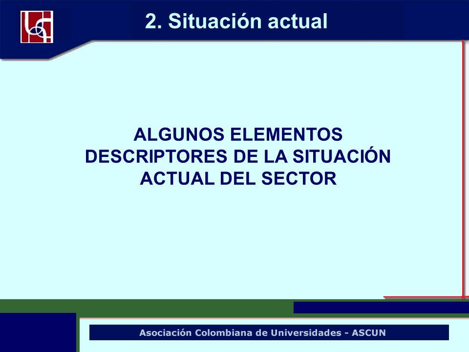 ALGUNOS ELEMENTOS DESCRIPTORES DE LA SITUACIÓN ACTUAL DEL SECTOR