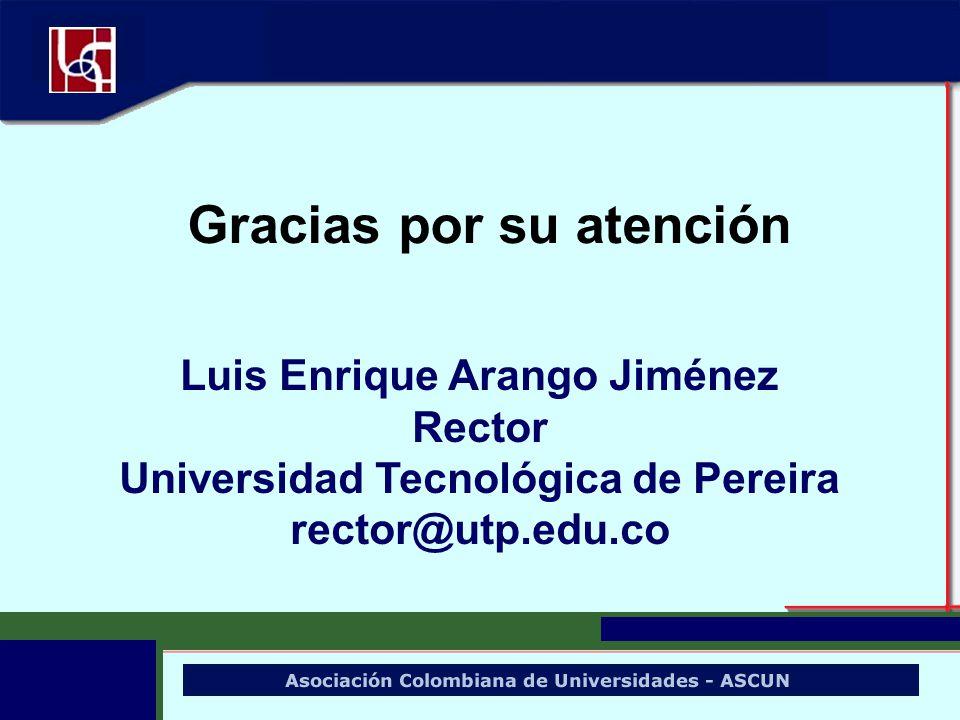 Luis Enrique Arango Jiménez Universidad Tecnológica de Pereira