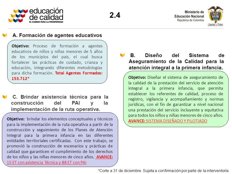 2.4 A. Formación de agentes educativos