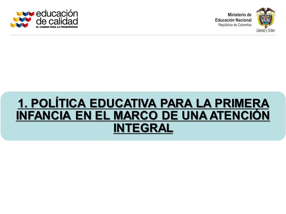 1. POLÍTICA EDUCATIVA PARA LA PRIMERA INFANCIA EN EL MARCO DE UNA ATENCIÓN INTEGRAL