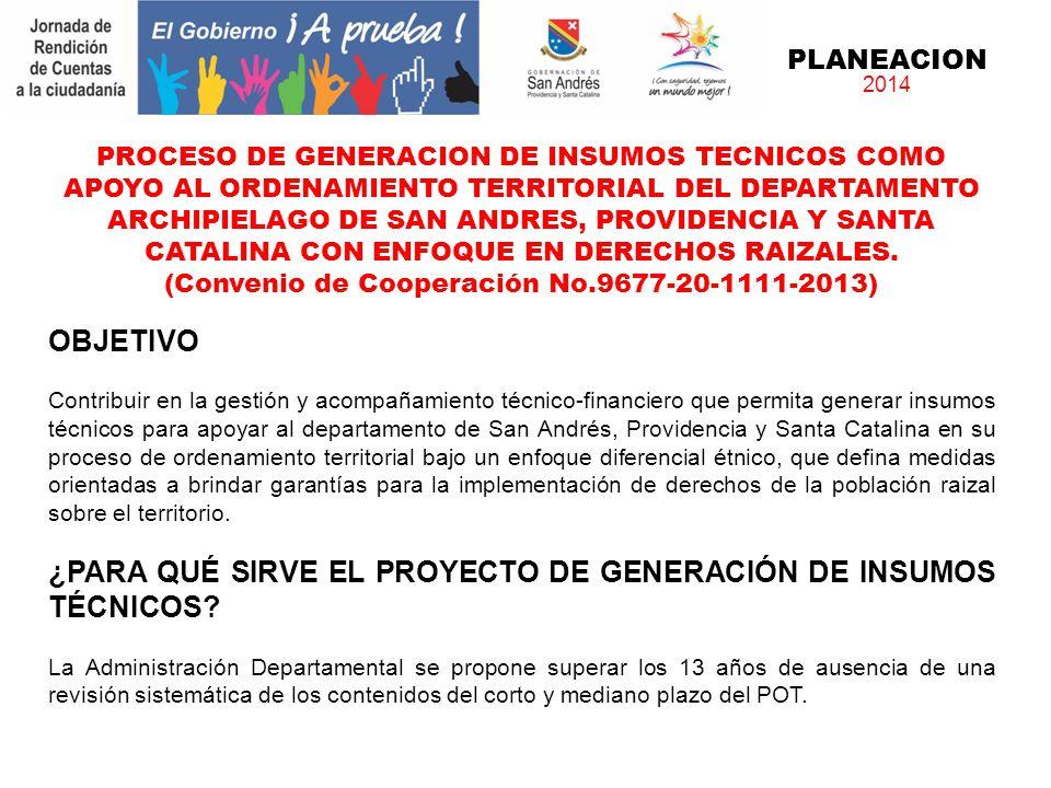 (Convenio de Cooperación No.9677-20-1111-2013)