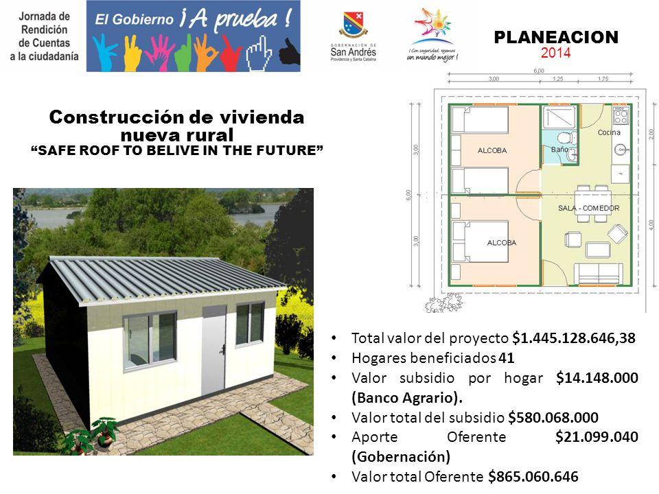 Construcción de vivienda nueva rural