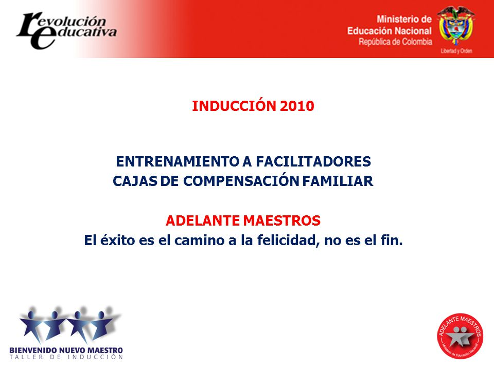 ENTRENAMIENTO A FACILITADORES CAJAS DE COMPENSACIÓN FAMILIAR