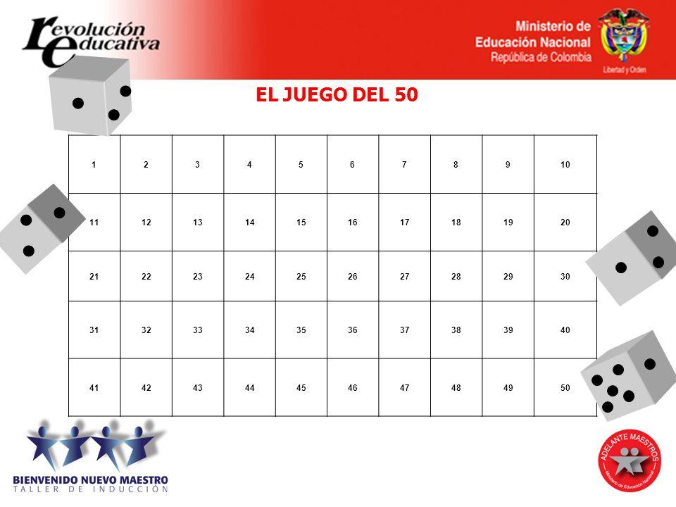 EL JUEGO DEL 50 1. 2. 3. 4. 5. 6. 7. 8. 9. 10. 11. 12. 13. 14. 15. 16. 17. 18. 19.