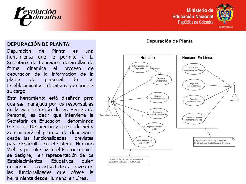 DEPURACIÓN DE PLANTA: