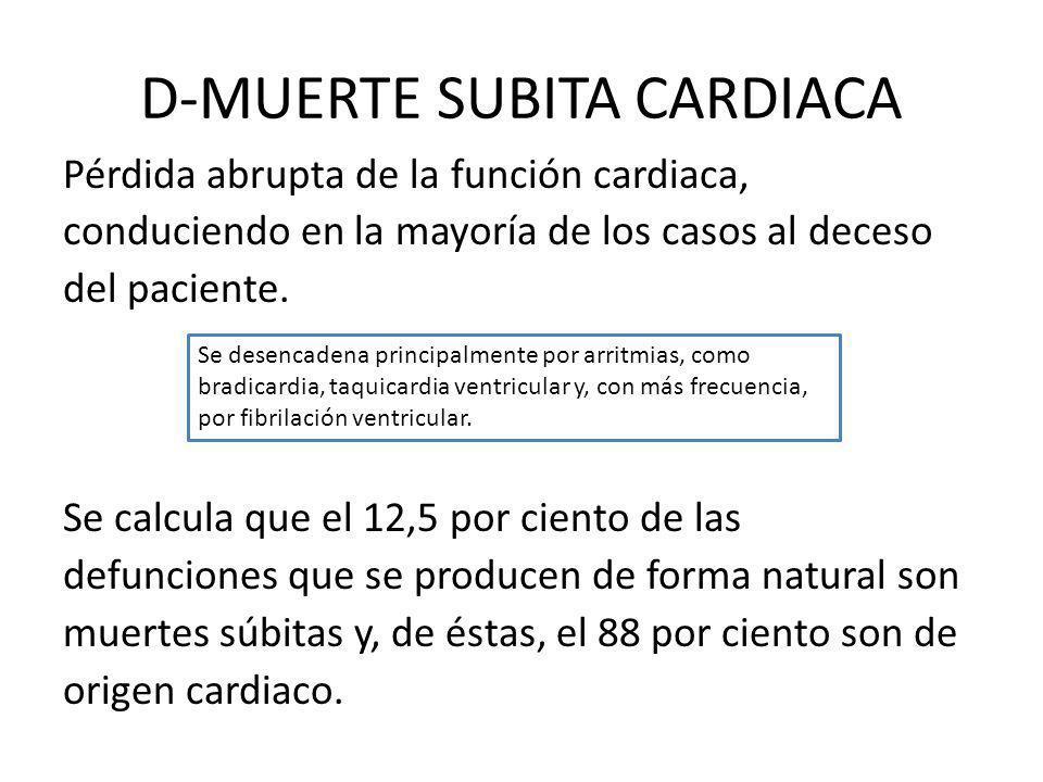 D-MUERTE SUBITA CARDIACA