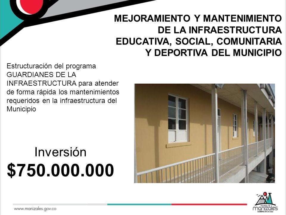 MEJORAMIENTO Y MANTENIMIENTO DE LA INFRAESTRUCTURA EDUCATIVA, SOCIAL, COMUNITARIA Y DEPORTIVA DEL MUNICIPIO