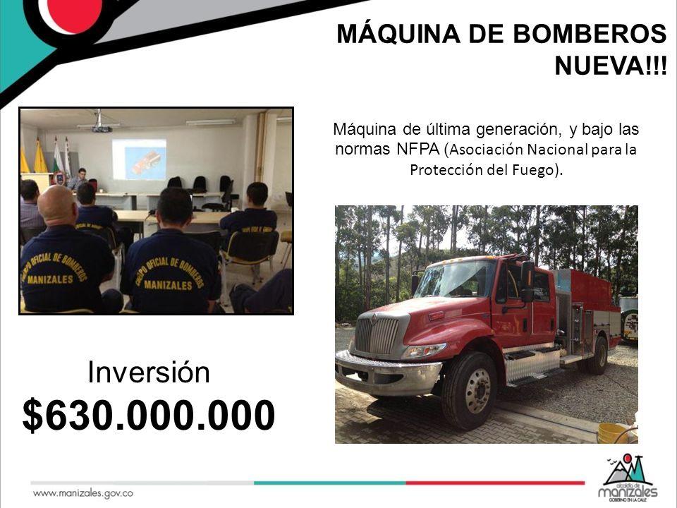 $630.000.000 Inversión MÁQUINA DE BOMBEROS NUEVA!!!
