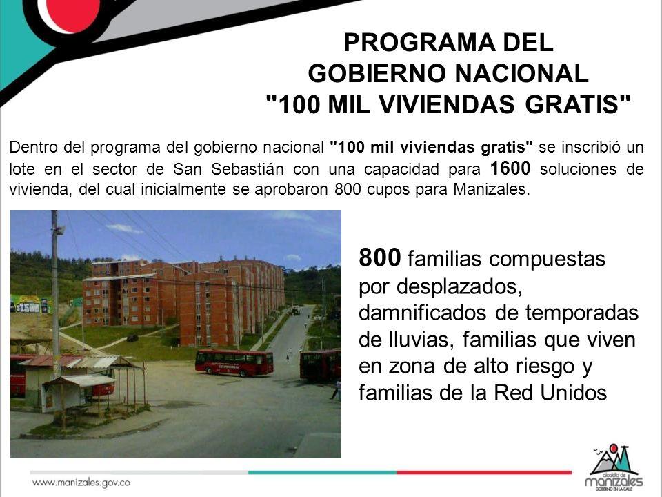 PROGRAMA DEL GOBIERNO NACIONAL 100 MIL VIVIENDAS GRATIS